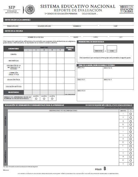 formato de boleta para secundaria ciclo 2016 2017 formatos de reporte de evaluaci 243 n para primaria ciclo