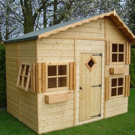 Wooden Wendy House Plans Wooden Playhouses With Loft Studio Design Gallery Best Design