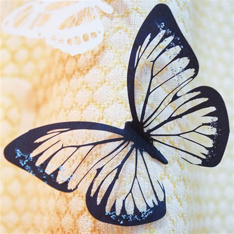 black 3d butterfly decal wall 18pcs pvc 3d wall stickers poster black white