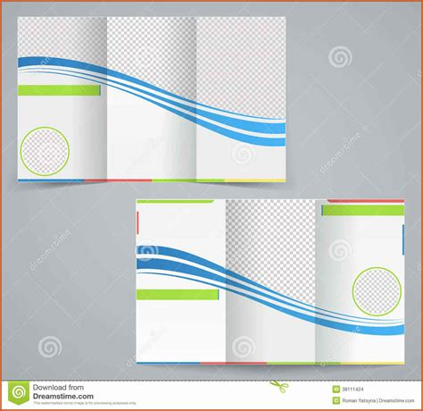 leaflet design on word trifold brochure template sop exle
