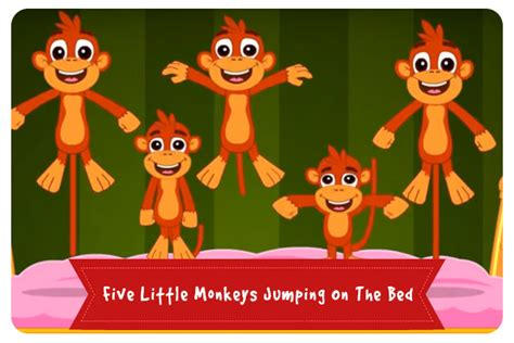 three little monkeys jumping on the bed five little monkeys jumping on the bed