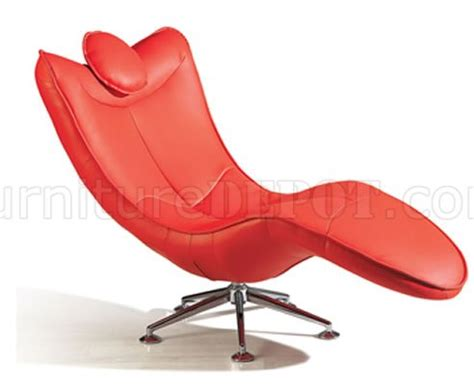red chaise lounge chairs red color leather upholstery swivel chaise lounge