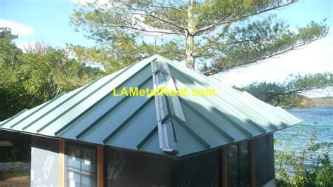 standing seam metal roof installation at la metal roof