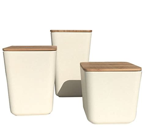 Bamboo Canisters For The Kitchen by Bamboo Fiber Kitchen Canister 3 Set With Airtight