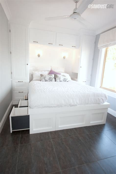 tiny bedroom solutions built in wardrobes and platform storage bed the sawdust