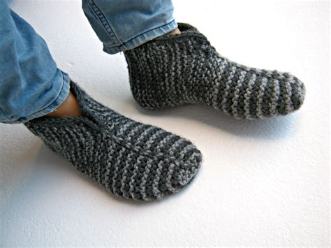 mens slippers socks knitted socks knitted slippers mens socks warm socks gray