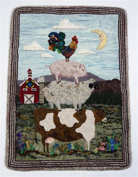 cushing rug hooking 689 best images about rug hooking 10 on gilbert o sullivan latch hook rug kits and