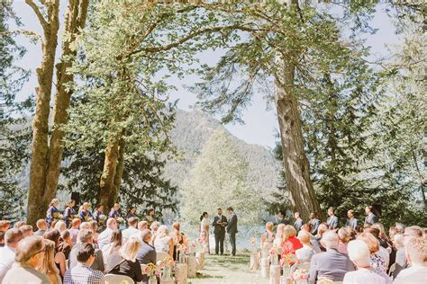 Chika & Steven's Olympic National Park Wedding at Lake