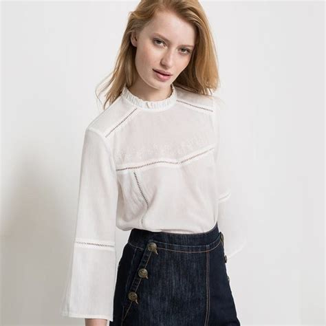 Embroidery Sabrina Blouse 5 embroidered high collar blouse endource