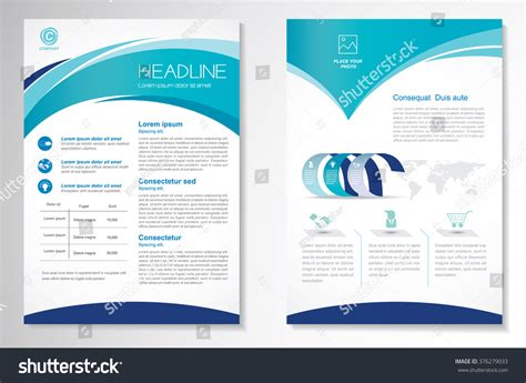Vector Brochure Flyer Design Layout Template Stock Vector 376279033 Shutterstock Easy Flyer Template