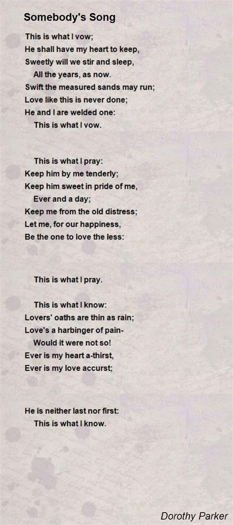 song a poem of pride for those with congenital anomalies books somebody s song poem by dorothy poem