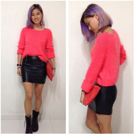 Topshop Ladybird Skirt by Ong Jays Sweater Topshop Pleather