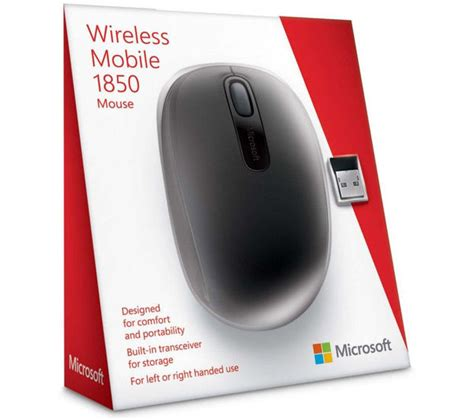 Microsoft Mouse 1850 buy microsoft wireless mobile mouse 1850 black free delivery currys