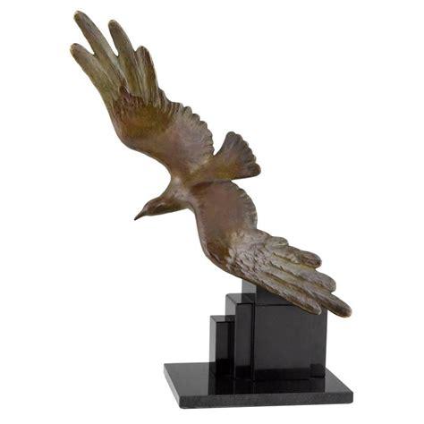 Bronze Bird L deco bronze seagull bird sculpture by alexandre kelety