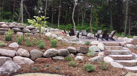 retaining boulder walls northland landscape