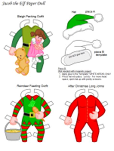 printable elf paper dolls printable paper doll clipart best