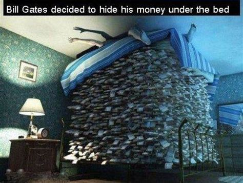 bed of money bill gates and his money bits and pieces