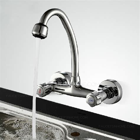 discount kitchen sinks and faucets cheap cooper wall mounted two holes kitchen sink faucet