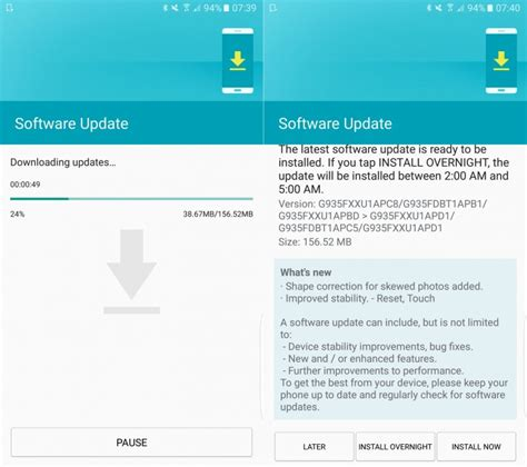 how to update software in samsung galaxy y gt s5360 samsung galaxy s7 and s7 edge software update improves