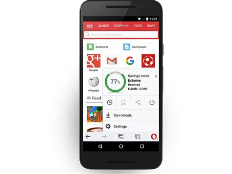 opera mini android themes opera mini for android update brings improved download