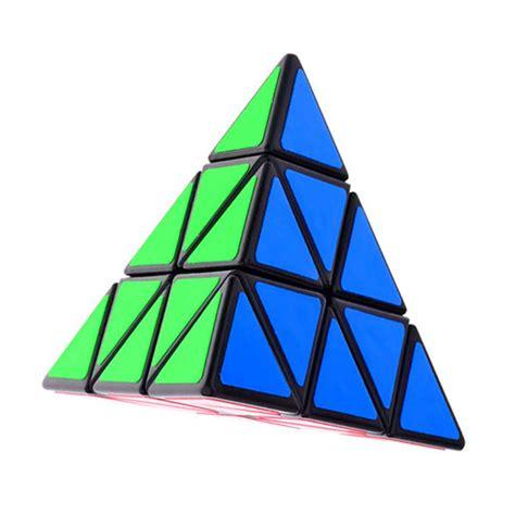 Rubik Pyramid Qiyi Pyraminx Speed Cube Black Base Grosir shengshou triangle pyramid pyraminx magic cube puzzle