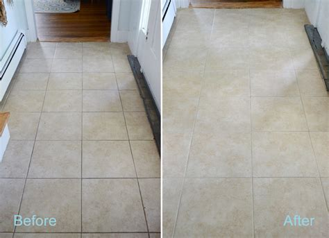 Grout Cleaning Before And After Diy Grout Cleaner