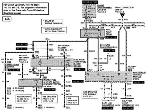 2000 ford and zx2 wiring diagram manual original