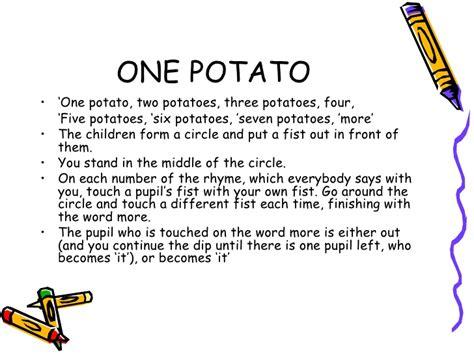 Potato Lyrics by Session 3 Corregido