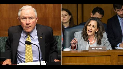 jeff sessions and kamala harris kamala harris gets shut down by jeff sessions after going