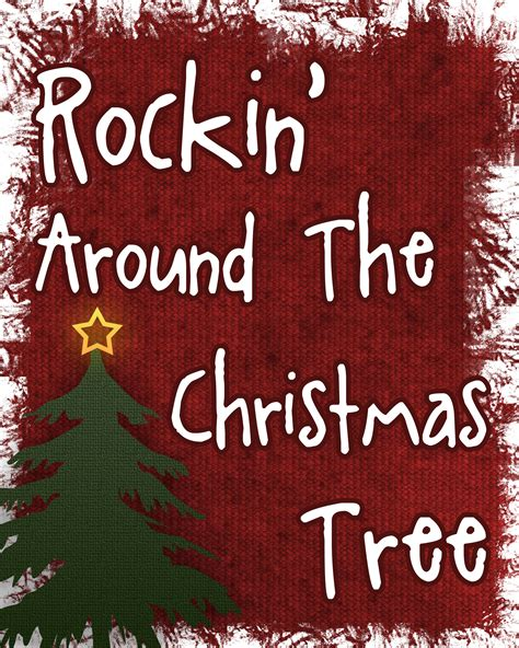 rockin around the christmas tree printable over the big