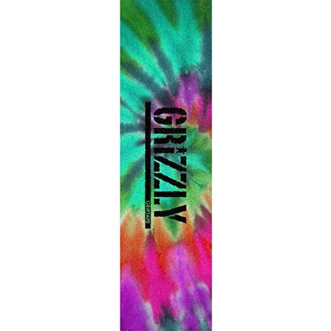Grizzly Grip Tape Stamp Print In Tie Dye Grip