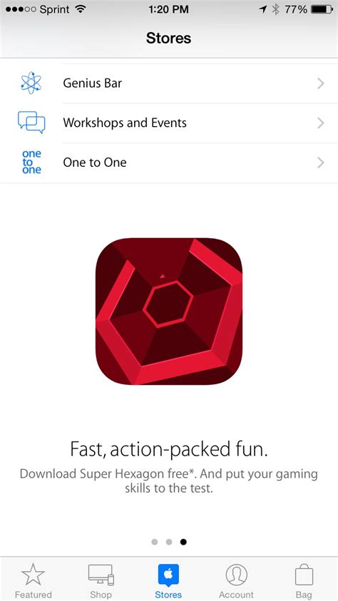 App Store Giveaway - hurry get your free super hexagon from the apple store app