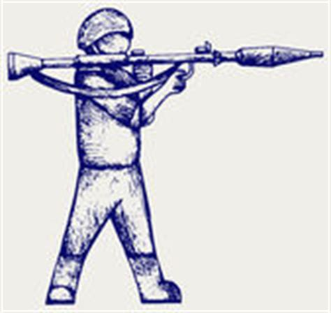 doodle bazooka mercenary shoot with a bazooka stock vector image 50737976