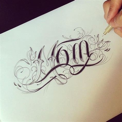 Mom Tattoo Font | 703 best images about tattoo lettering and fonts on