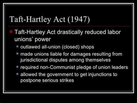 section 14 b of the taft hartley act u s labor movement