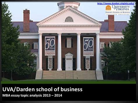Uva Darden Mba by Darden School Of Business Mba Essay Topic Analysis 2013 2014