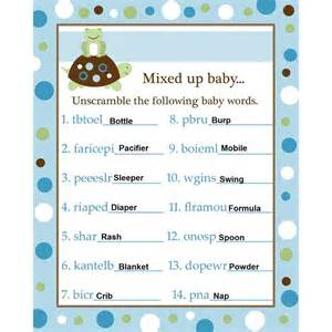 baby shower word scramble answers blue baby shower