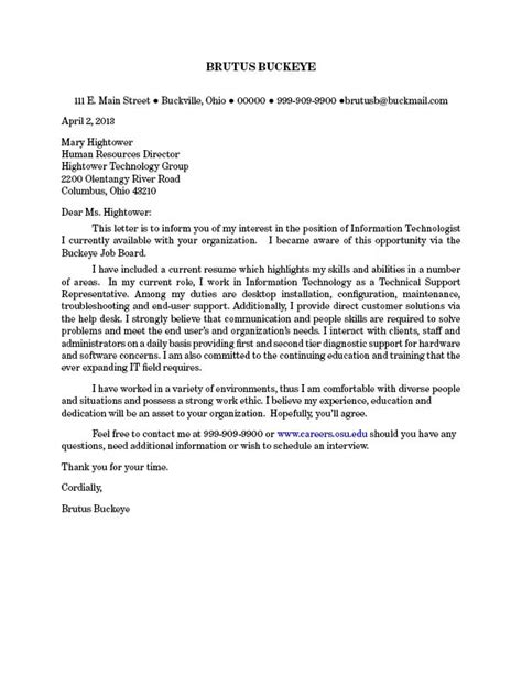 Peer Advisor Cover Letter by Sle Of Cover Letter For Service Advisor