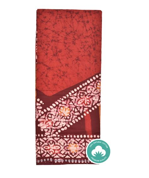 Middle Block Stripe Maroon maroon color base with stripes and block printed lungi
