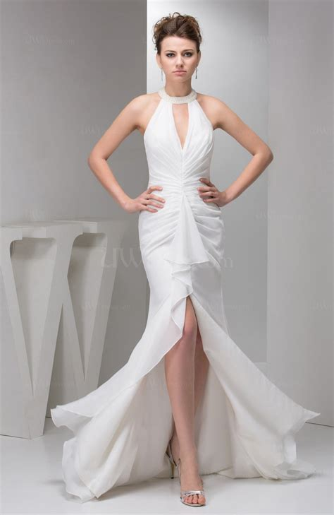 White Elegan white evening dress simple beaded sparkly unique modern uwdress