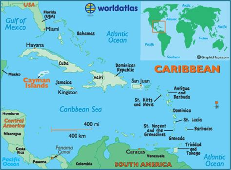 cayman islands map geography of cayman islands map of