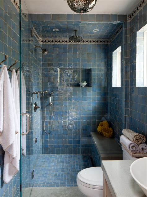 moroccan bathrooms bathroom mediterranean with square