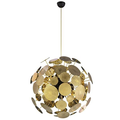 Circular Chandelier Lighting Large Circular Modern Gold Plated Newton Chandelier By
