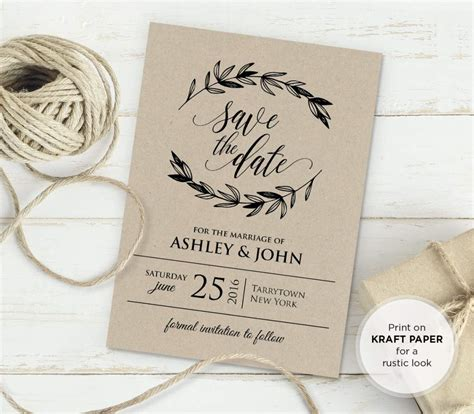 rustic wedding invite template rustic wedding invitation templates wedding invitation