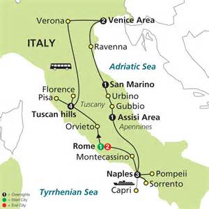 best cities in italy to visit map