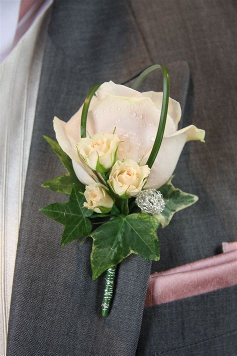groom s boutonniere flower design buttonhole corsage groom s blush pink boutonniere