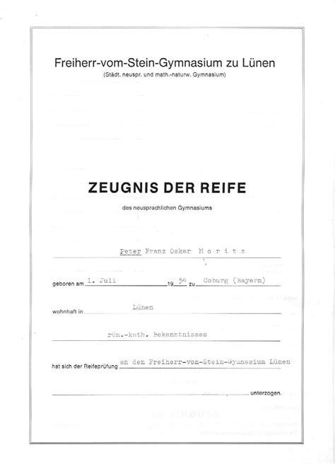 Bewerbung Abiturzeugnis Abiturzeugnis F 252 R Moritz Teil 1 3