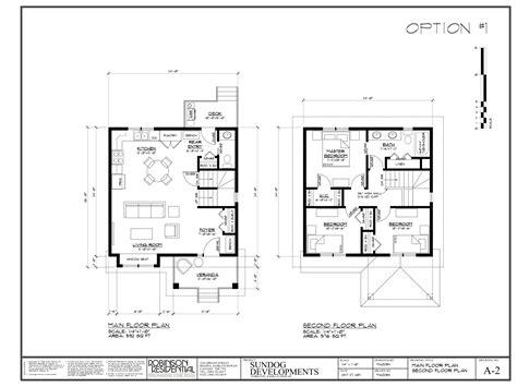 2 storey floor plan sundog developments ltd