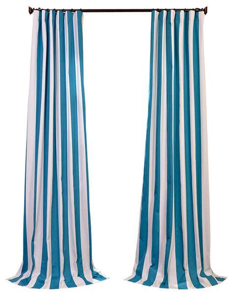 Cabana Teal Printed Cotton Curtain Contemporary