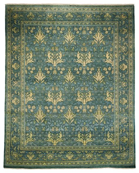 Arts And Crafts Area Rug Arts And Crafts Wool Area Rug Teal 8x10 Area Rugs By Rugs